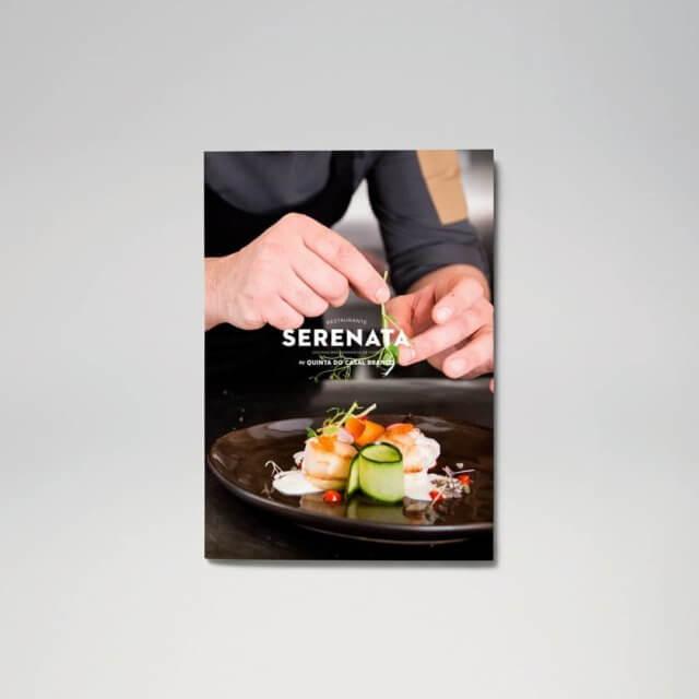 Restaurante Serenata - Capa da Ementa